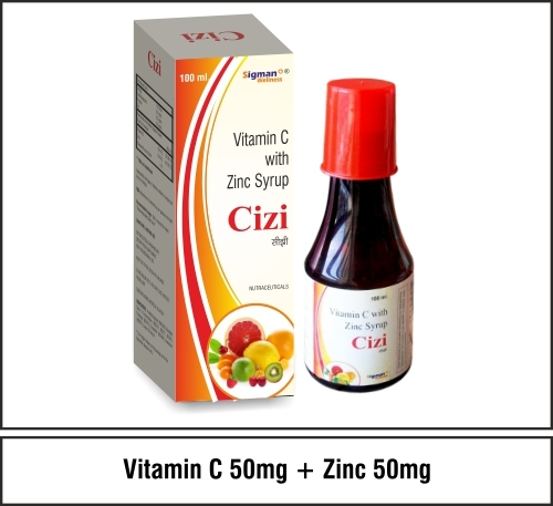 Vitamin C 50mg + Elemental Zinc 5mg