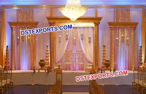 Glittering Wedding Golden Mandap Set