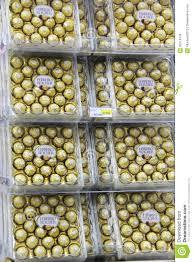 Fresh ferrero rocher chocolate