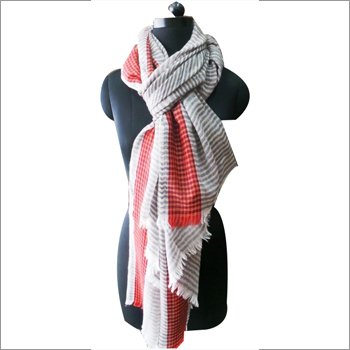 Pure Wool Check Scarves