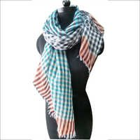 Wool Self Check Scarves