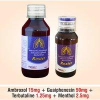 Ambroxol + Terbutaline + Guaiphenesin + Menthol