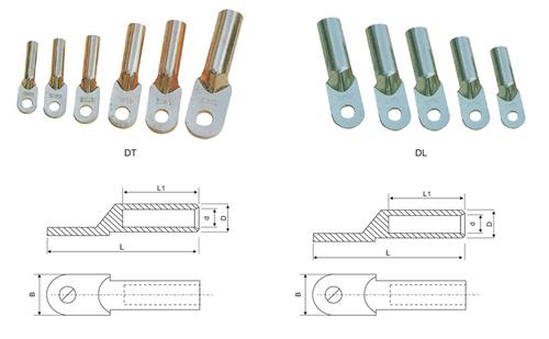 Copper-aluminium connecting terminals of DT DL series