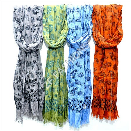 Cotton Jacquard Scarf