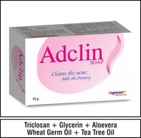 Triclosan + Glycerin +Aloevera + Wheat Germ + Tea tree oil