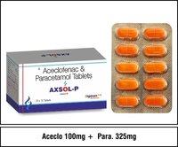 Aceclofenac 100mg. + Paracetamol  325mg.
