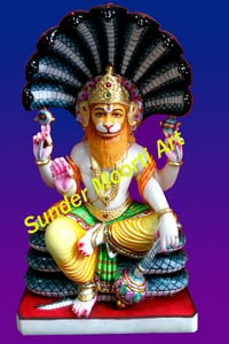 Marble Narsingh Bhagwan Statue