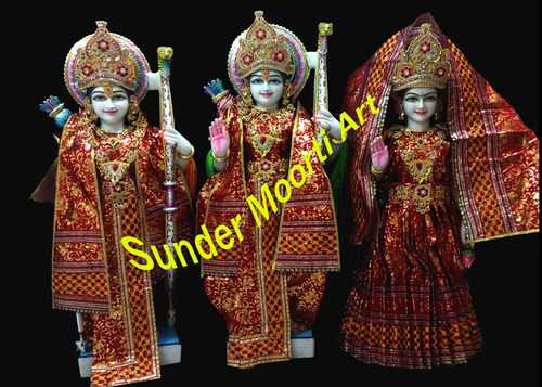 God Marble Ram Darbar Statue