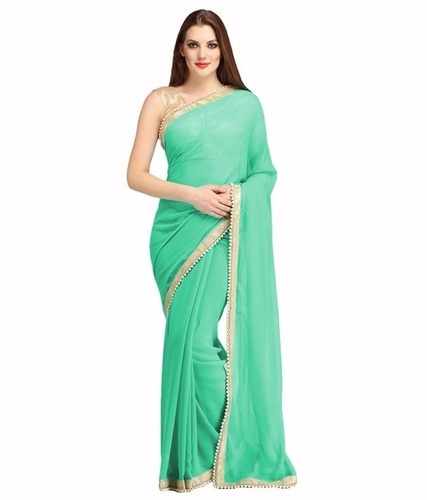 Lace Work Party Wear Saree