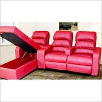 3 Seater Leather Recliner Lounge
