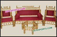 Hand Craft Wedding Sankheda Sofa Set