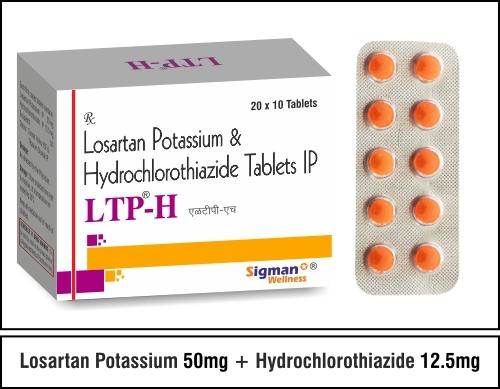 Losartan Potassium 50 + Hydrochlorothiazide 12.5