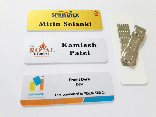 PVC Metallic Name badges