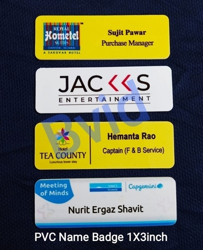 PVC Name Badges