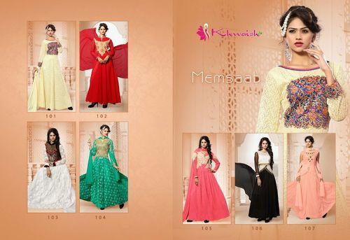 Khwaish Memsaab Partywear Gowns