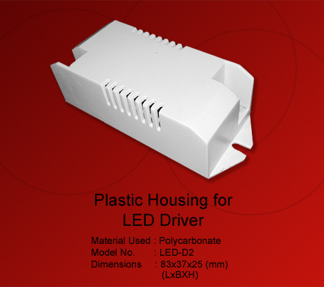 Plastic Enclosure For LED Driver Connector
