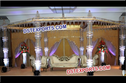 Fully Crystal Mandap For Wedding
