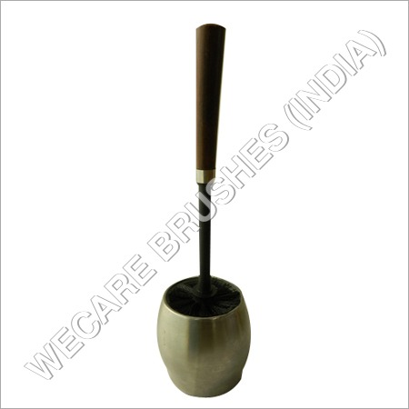 ROUND TOILET BRUSH WITH GLASS HOLDER