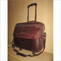 Leather Overnighter Laptop trolly bag