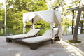 Pool Side Lounger with Canopy