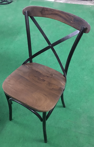 Iron Wooden X Chair