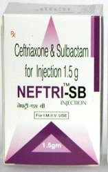 Ceftriaxone 1000mg +Sulbactam 500mg Injection
