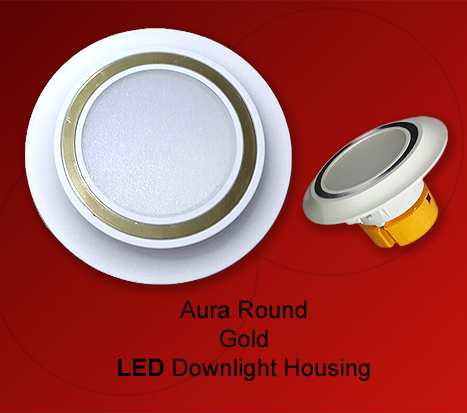 Aura Gold LED Downlight Housing Round