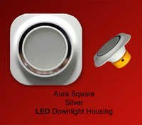 Aura Silver LED Downlight Housing Square
