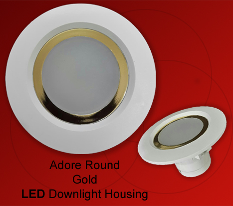 Adore Gold LED Downlight Housing Round