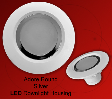 Adore Silver LED Downlight Housing Round