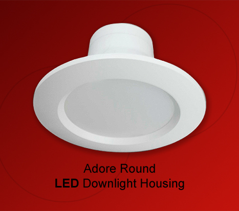 Adore LED Downlight Housing Plain Round