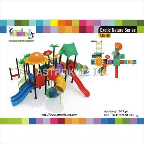 Metal Playground Wavy Slide