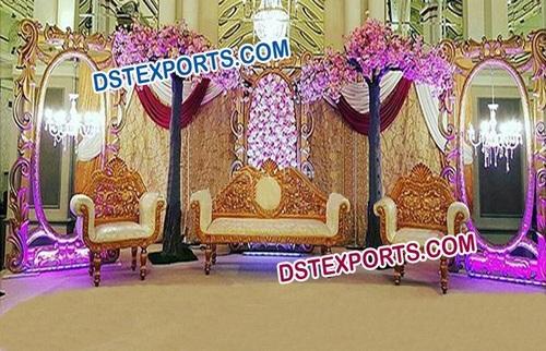 Muslim Wedding Stage With Golden Frames