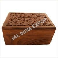 Hand Carved Wood Urn Box