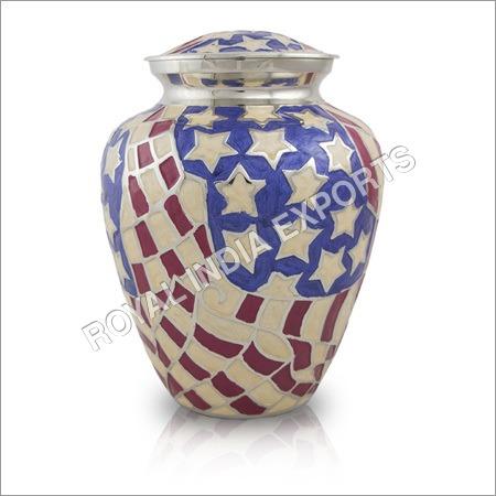 American Flag Brass Urns