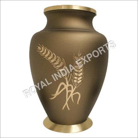 Engraved Brass Urns