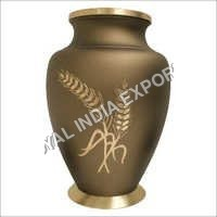 Engraved Brass Urns