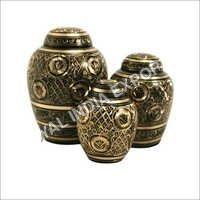 Domtop Black Brass Cremation Urn