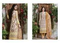 Farah cotton printed with neck work suit