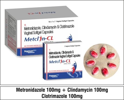 Metronidazole + Clindamycin 100 + Clotrimazole 100