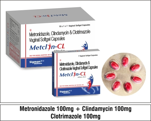 Metronidazole + Clindamycin + Clotrimazole