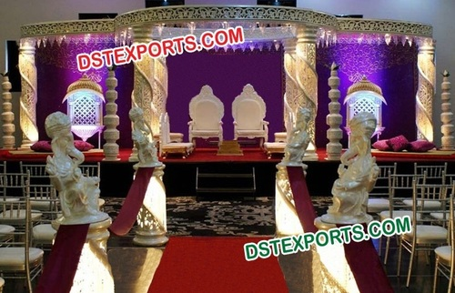 Wedding Jali Crystal Mandap Set