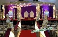 Wedding Jali Crystal Mandap Set