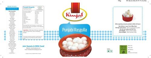 Punjabi Rasgulla Tin Packing