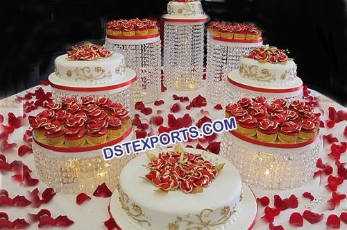 Amazing Crystal Wedding Cake Stand