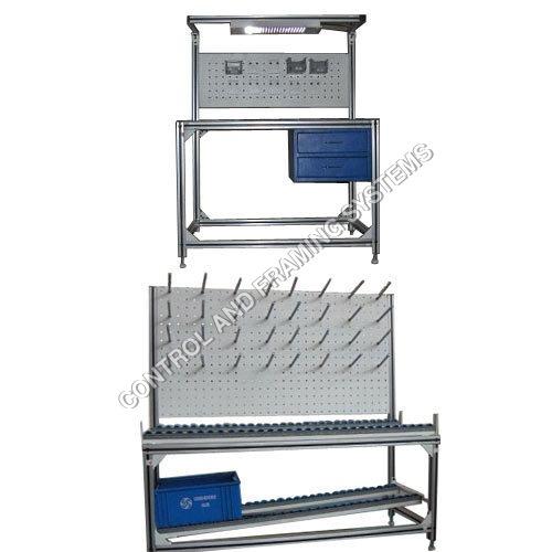 3 Modular Work Benches Table