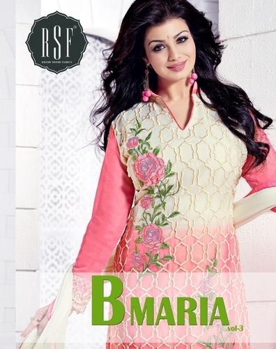 Fancy Salwar Kameez Material: Cotton