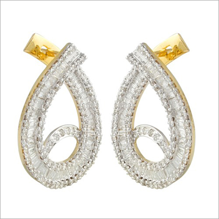 Diamond Bali Earrings