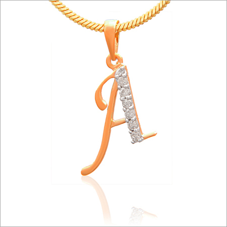 Diamond Initial Letter Pendants
