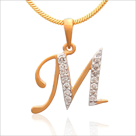 Diamond Initial Alphabet Pendants
